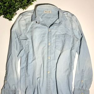 Madewell denim Button down long sleeve